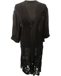 AllSaints Silk Cardi Coat - Black