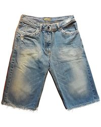 Burberry Blue Denim - Jeans Shorts