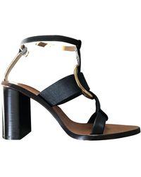 Chloé Rony Leather Sandal - Black
