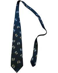 Moschino Corbatas en seda marino - Azul