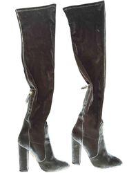 c57c0c844f2 Lyst - Aquazzura Velvet Over-the-knee Boots in Brown