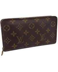 Louis Vuitton Zippy Brown Cloth