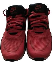Nike Air Max 90 Red Cloth Trainers