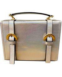 Zac Posen Leather Handbag - Metallic