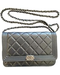 Chanel Wallet On Chain Leather Clutch Bag - Black