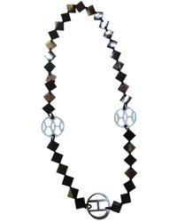 Hermès Collar largos en cuerno marrón Hava