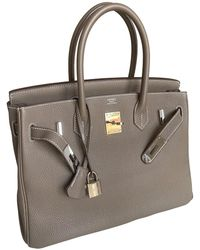 Hermès Birkin 30 Leder Handtaschen - Natur