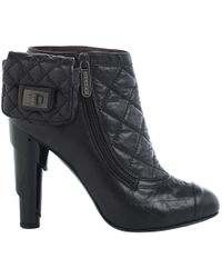 Chanel - Leather Ankle Boots - Lyst