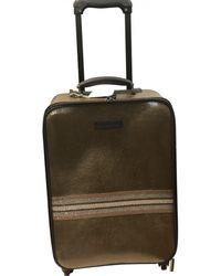 Brunello Cucinelli Gold Leather Travel Bag - Metallic