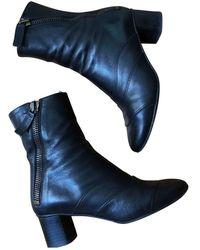 Chloé Lexie Leather Biker Boots - Blue