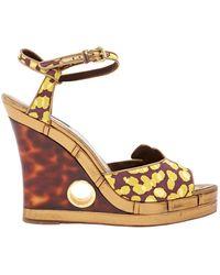 Louis Vuitton \n Multicolour Leather Sandals - Metallic