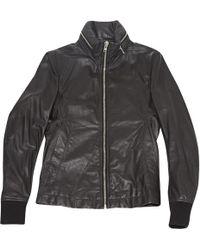 Rick Owens - Pre-owned Leather Biker Jacket - Lyst