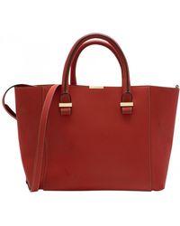 Victoria Beckham Liberty Leather Handbag - Red