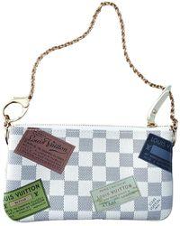 Louis Vuitton Milla White Cloth Clutch Bag