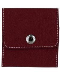 Hermès Red Leather Purse Wallet & Case