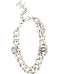 Chanel - Pre-owned Silver Metal Necklaces - Lyst