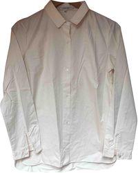 Carven Top en Coton Blanc