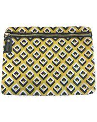 Diane von Furstenberg Cloth Purse - Yellow