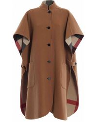 Burberry Wolle poncho - Braun