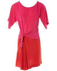 Sonia by Sonia Rykiel Pink Silk Dress