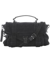 Proenza Schouler Ps1 Black Suede Handbag
