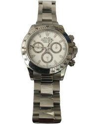 Rolex Pre-owned Daytona White Steel Watches