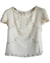 Chanel - \n Ecru Silk Top - Lyst