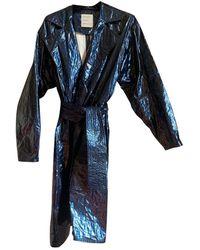 Maison Rabih Kayrouz Navy Synthetic Trench Coat - Blue