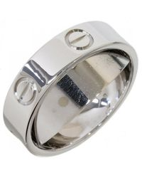 Cartier Love White Gold Ring - Metallic