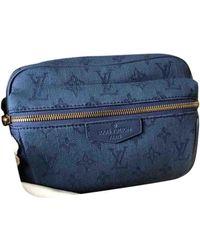 Louis Vuitton Borsa Outdoor in Tela - Blu