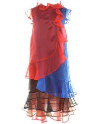 Christopher Kane Vestido en seda multicolor