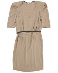Sandro - Brown Viscose Dress - Lyst