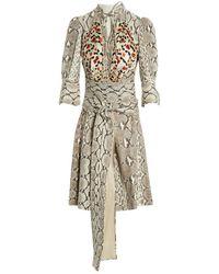 Givenchy Gray Python Dress