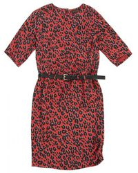 Louis Vuitton - Pre-owned Red Viscose Dress - Lyst