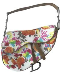 Dior Saddle Multicolour Cloth Handbag
