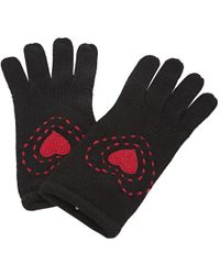 Moschino - Pre-owned Black Wool Gloves - Lyst
