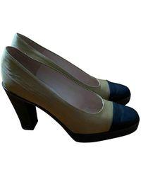 Chanel Cloth Heels - Natural