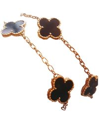 Van Cleef & Arpels Alhambra Yellow Gold Necklace - Multicolor