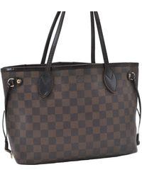 Louis Vuitton - Neverfull Brown Cloth Handbag - Lyst