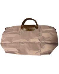 Longchamp Pliage Cloth Travel Bag - Pink
