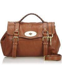Hot Mulberry - Alexa Brown Leather Handbag - Lyst cddb1882bd487