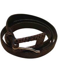 JOSEPH Leather Belt - Brown