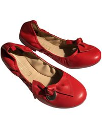 Marc Jacobs Leather Ballet Flats - Red