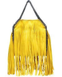 792ad32b66 Lyst - Stella Mccartney Cavendish Faux-leather Shoulder Bag in Yellow