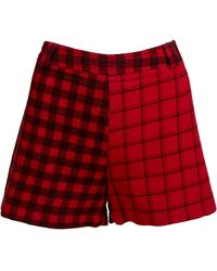 Versace Red Wool