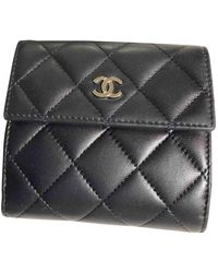 Chanel Portafoglio in pelle marina Timeless/Classique - Nero