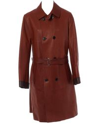 Louis Vuitton Leather Coat - Brown