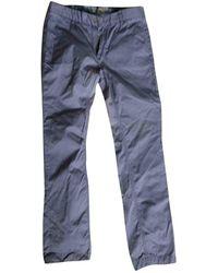 Acne Studios Pantaloni in cotone blu