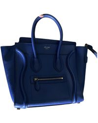 Celine Luggage Leder Handtaschen - Blau