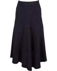 Jil Sander - Navy Cotton - Elasthane Skirt - Lyst